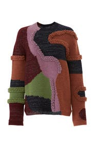 Heavy Knit Patchwork Sweater by Peter Pilotto