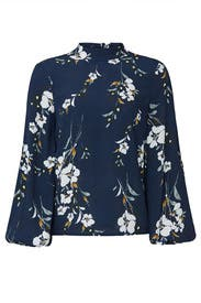 Floral Oxford Top by Yumi Kim