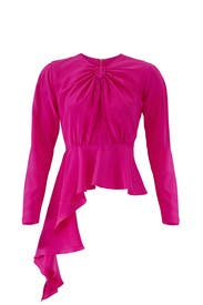 Pink Lana Top by DELFI Collective