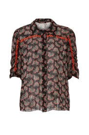 Sheer Floral Reef Top by Anna Sui