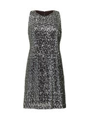 Silver Sequins Aline Dress by Milly