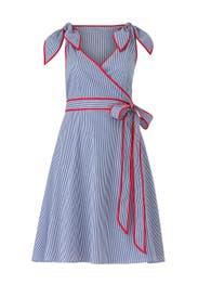 Stripe Wrap Dress by Draper James X ELOQUII