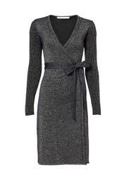 Blue Sparkle Wrap Dress by Diane von Furstenberg