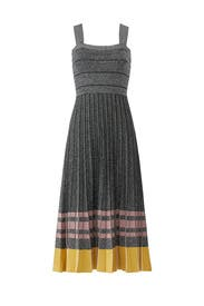 Pleated Lurex Knit Dress by Derek Lam 10 Crosby