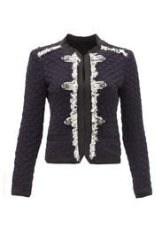 Navy Lana Tweed Jacket by Rebecca Taylor