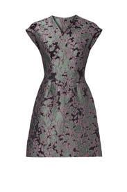Lavender Jacquard Dress by Josie Natori