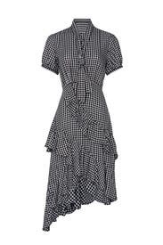 Gingham Tie Neck Dress by Great Jones