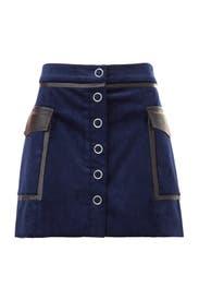 Navy Corduroy Drea Skirt by Ramy Brook