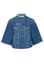 Bell Sleeve Denim Jacket by Rachel Rachel Roy