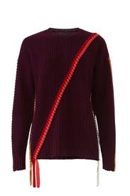 Braided Asymmetrical Sweater by Derek Lam 10 Crosby