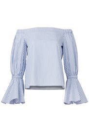 Blue Striped Juniper Top by Alexis