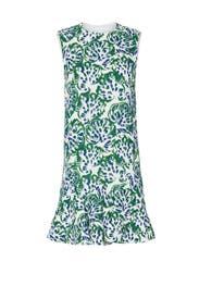 Floral Flounce Hem Dress by Victoria Victoria Beckham
