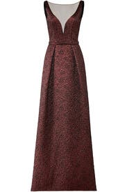 Burgundy Illusion Gown by Theia