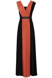 Orange Pleated Gown by Vionnet