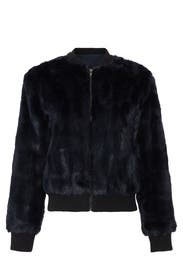 Amy Faux Fur Bomber by cupcakes and cashmere