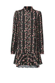 Black Floral Dawn Dress by ERIN erin fetherston