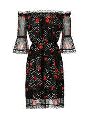 Black Popi Print Dress by The Kooples