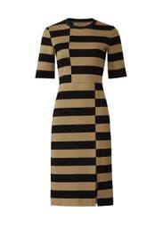 Offset Stripe Dress by DEREK LAM
