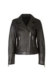 Black Biker Leather Jacket by DOMA