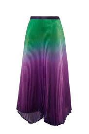 Pleated Ombre Clara Skirt by DELFI Collective