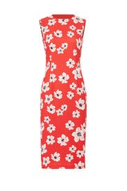 Red Floral Sheath by Sachin & Babi
