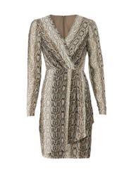 Python Faux Wrap Dress by Slate & Willow