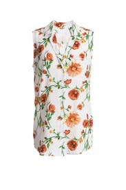 Floral Sleeveless Button Down by Equipment