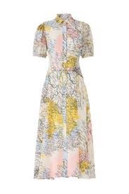 Map Button-Down Midi Dress by Derek Lam 10 Crosby