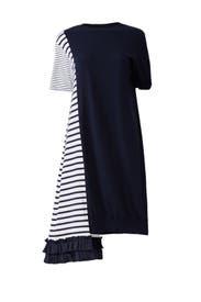 Mix Media Side Draped Dress by Clu