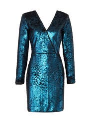 Blue Sequin Dress by Adelyn Rae