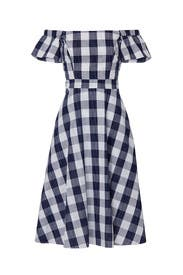 Off The Shoulder Gingham Dress by Adelyn Rae