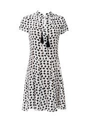 Printed Silk Tassel Dress by DEREK LAM