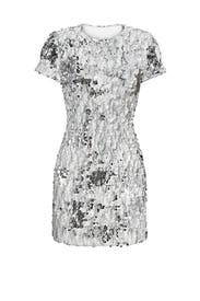 White and Silver Ellen Shift by Dress The Population