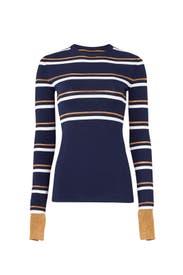 Metallic Stripe Sweater by Cedric Charlier