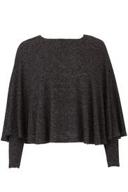 Black Cozy Cape Tee by B Collection by Bobeau