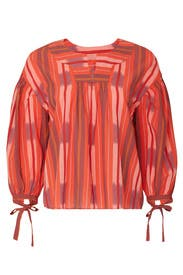 Ikat Peasant Popover Top by Madewell
