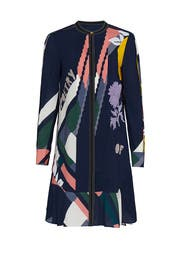Floral Printed Cora Dress by Tory Burch