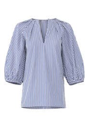 Striped Puff Sleeve Shirt by Martin Grant