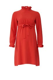 Red Ruffle Maternity Dress by Sail to Sable
