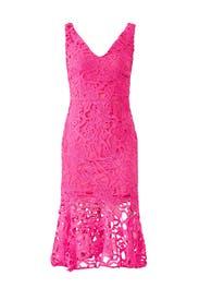Lace Peplum Hem Dress by Alexia Admor