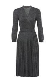 Metallic Wrap Sweater Dress by kate spade new york