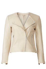 Collarless Moto Jacket by Slate & Willow