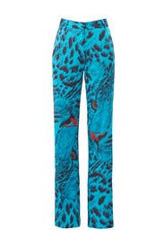 Striped Animal Print Pants by MSGM