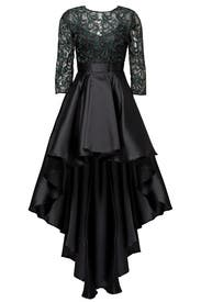 Green Ivy Lace Gown by Christian Pellizzari