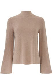 Cotton Shaker Mock Neck Top by 525 America