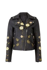 Rozi Faux Leather Jacket by Rino & Pelle