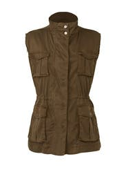 Army Green Utilitarian Vest by The Kooples