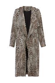 Leopard Long Jacket by Badgley Mischka