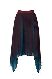 Contrast Colorblock Pleat Skirt by By Malene Birger