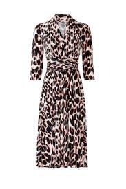 Mahlia Leopard Wrap Dress by Leota